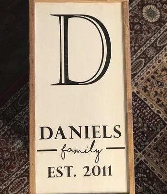 Wood Frame Sign
