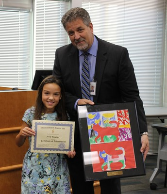 Ava Toepher and Dr. Harwood