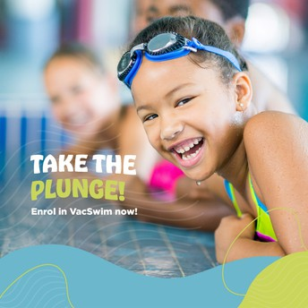 VacSwim swimming lessons during the summer school holidays
