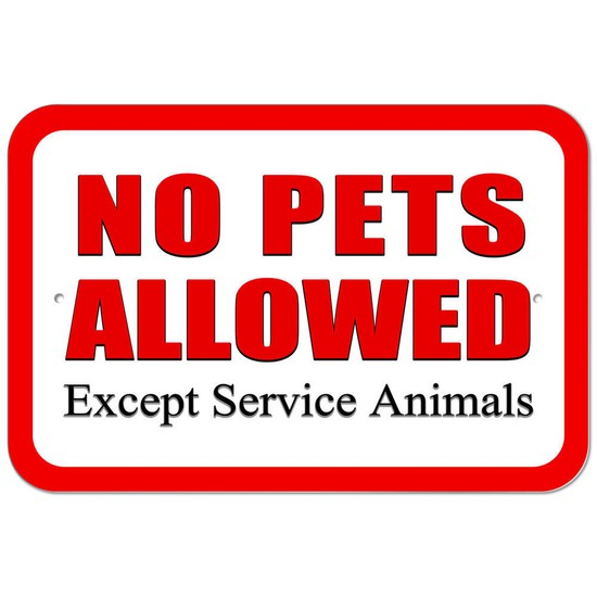For the safety of everyone, no pets are allowed on school grounds.