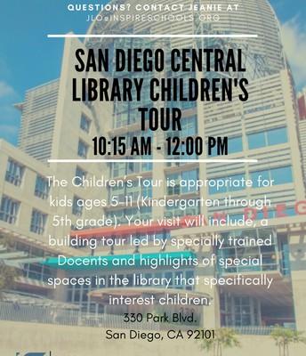 San Diego Central Library Children's Tour
