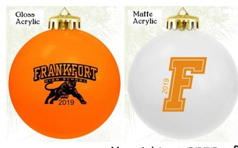 FHS Ornaments Price Reduced $7 each