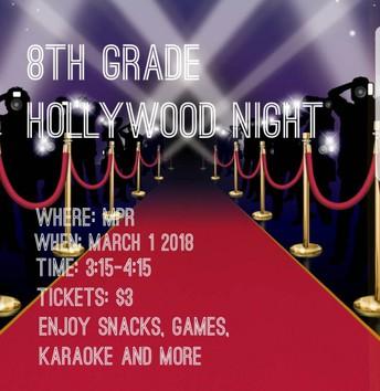 8th gr Hollywood Night