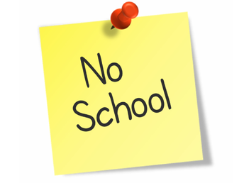 No School for ALL Students on Wednesday, Nov. 25- Friday, Nov. 27th.