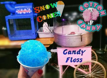 Snow Cones and Cotton Candy Available for Purchase