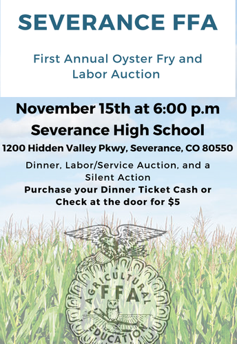 Severance FFA Oyster Fry and Auction 11.15.19