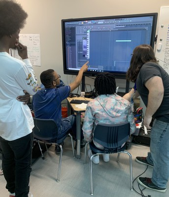 Students Editing Their Recording