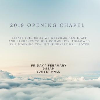 2019 Opening Chapel