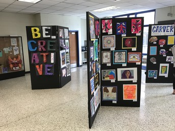 Carver MS display at the CCPS Arts Festival