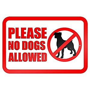 No Dogs (Pets) on School Grounds/ No perros (mascotas) en los terrenos de la escuela