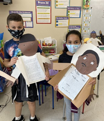 Students in Mrs. Wilbon's class at Sessums Elementary created these amazing Black History Month projects! The students are learning so much about Black History and are using what they learn to create amazing works of art!