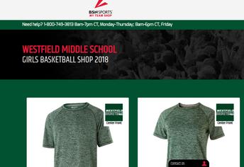 Order Westfield Basketball Spiritwear