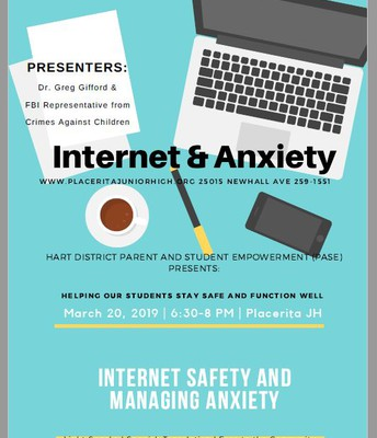 Wed March 20--Internet Safety & Managing Anxiety