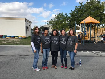 The Kinder Team in their Be KIND shirts.
