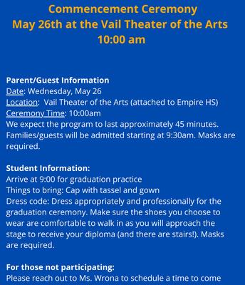 VIC HS Graduation Details