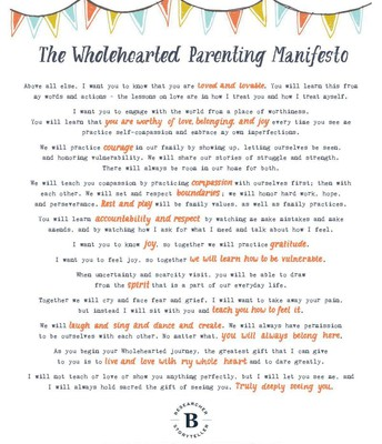 The Whole-Hearted Parenting Manifesto