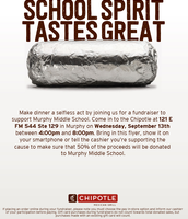 Chipotle- Murphy Spirit Night