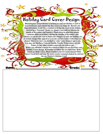 Here's Your Chance to Enter the District 13 Student Holiday Card Design Contest