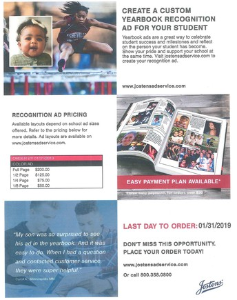 CREATE A CUSTOM YEARBOOK RECOGNITION AD FOR YOUR SENIOR