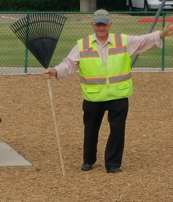 Mr. Pete worked hard keeping our grounds looking good!