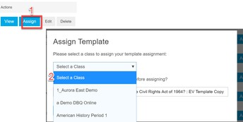 To assign to a class: