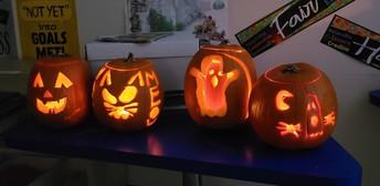 Gr 4B Pumpkin contest