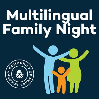Multilingual Family Night. Family image. CPA logo.