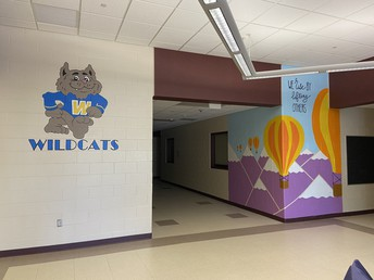 A beautiful mural added to the front hall!