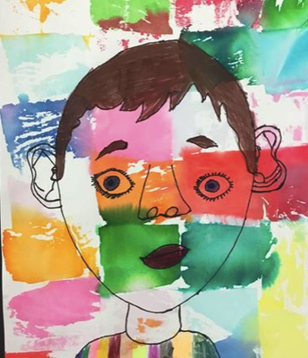"1st grade ""Abstract Portraits"""