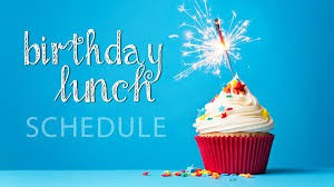 February Birthday Lunches & Book Store - February 28th