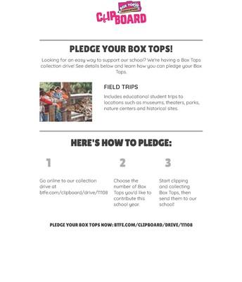 Keep Box Tops Coming
