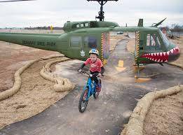 The Runway Bike Park at the Springdale Jones Center