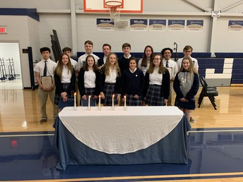 Congratulations to this year's JPII NHS & NJHS Inductees