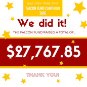 QHMS Annual Falcon Fund Hits it Big!