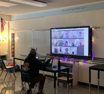 Mr. Kollmer teaching Global I