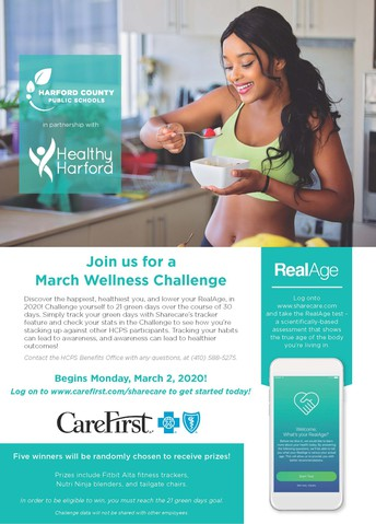 Join Us For A March Wellness Challenge