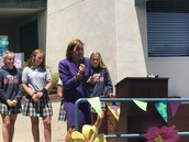 Mrs. Donna Wittouck Addresses the Students and Parents