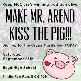 Crape Myrtle Run - Sept. 28th