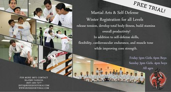 Self Defense Classes Winter Registration