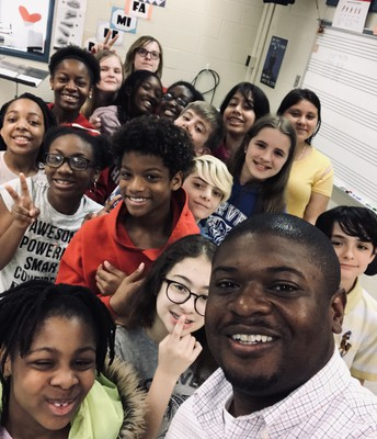 Dr. McLaurin with Chorus students!