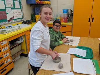 Chardon Middle School 5th-grade students - Mrs. Heron's art class