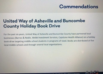 United Way of Asheville & Buncombe County Holiday Book Drive