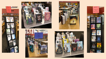 Look at all the cool new books in the MHS library media center!