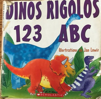 ...and reading great dino books!