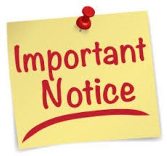 Attendance-Important Notice