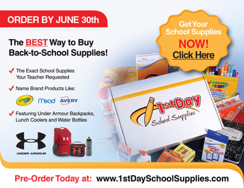 Order next year's school supplies by June 30th!