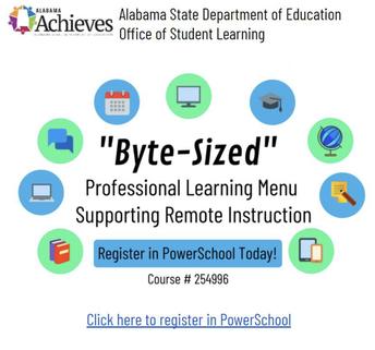 ALSDE-OSL January Byte-Sized Professional Learning Menu