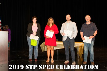 Former SPHS teachers came to receive their award