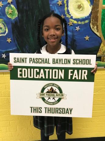 Education Fair Signs