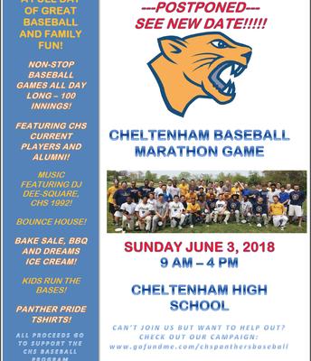 Cheltenham Baseball Marathon Game
